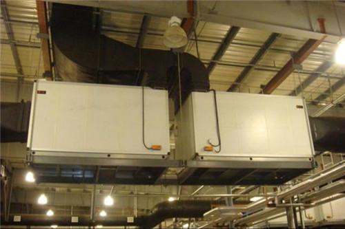 生产车间空调箱吊装