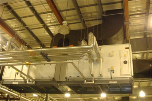 生产车间空调箱及供回水管路安装