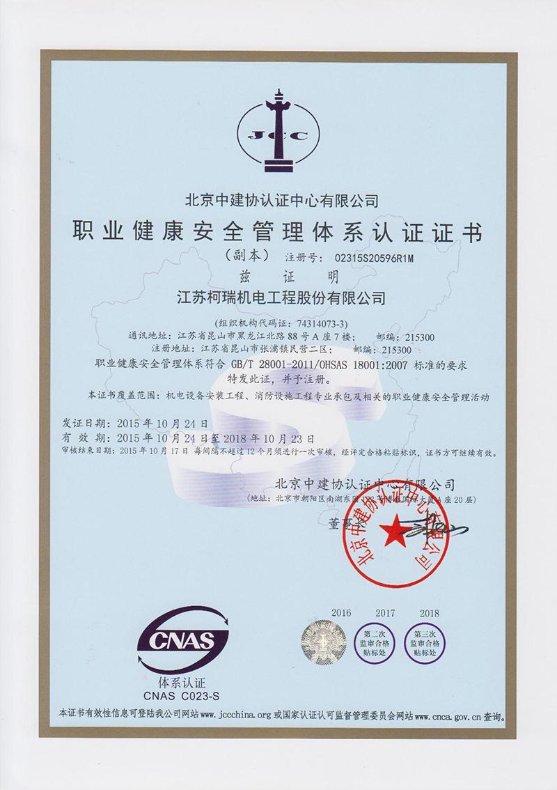 职业健康安全 中文
